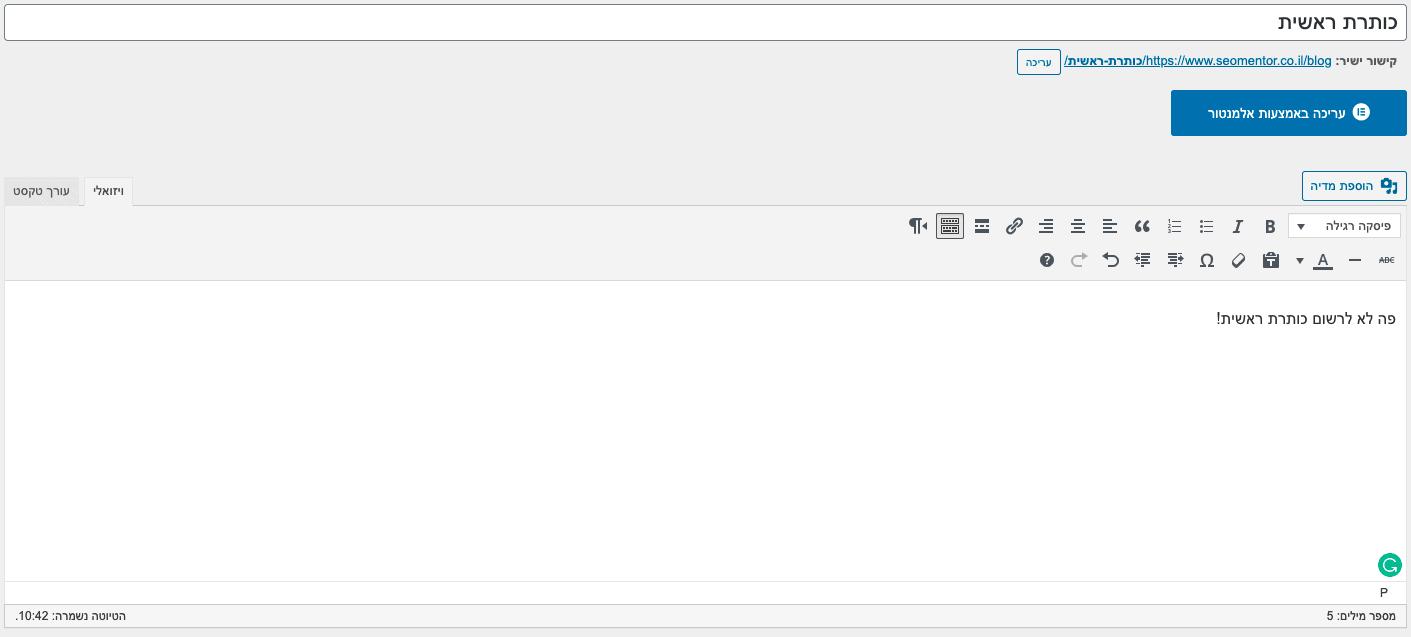 כתיבת מאמרים לseo